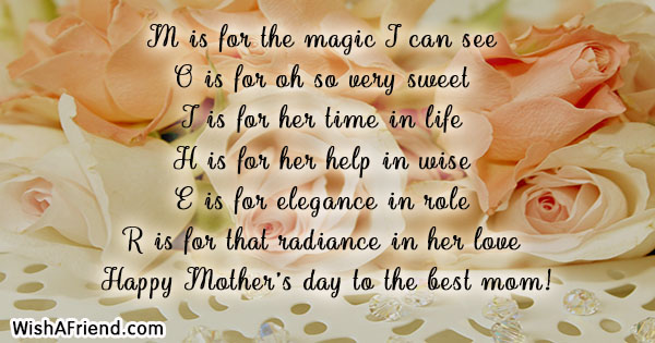 M is for the magic I, Mother's Day Wishes