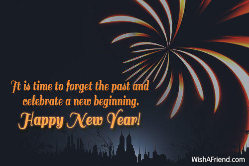 It is time to forget the, New Year Wish