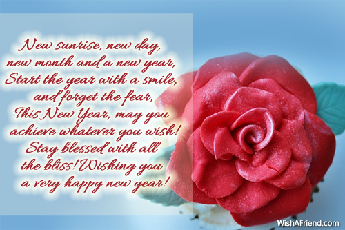 New sunrise new day new month new year message 6921 new year messages m4hsunfo
