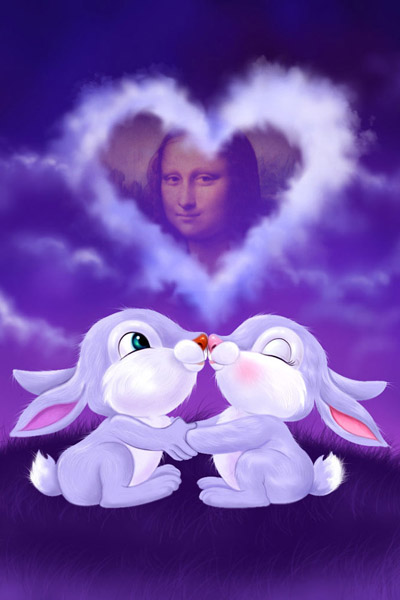 Rabbits in Love Photo Effect Generator. Get your photo with this ...