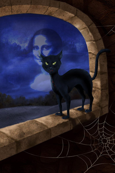 Scary Black Cat Photo Effect Generator