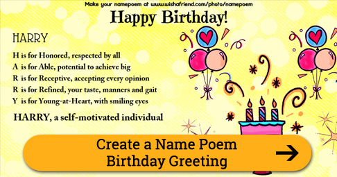 Acrostic Name Poem For Your
