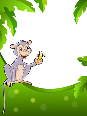 Create Photo Frames Online - Monkey with a Banana