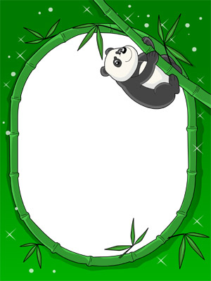Create Photo Frames Online - Hanging Panda