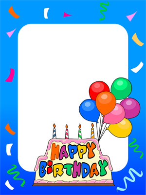 Create Photo Frames Online - Birthday Cake