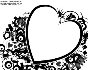 Create Photo Frames Online - Grunge B/W Heart