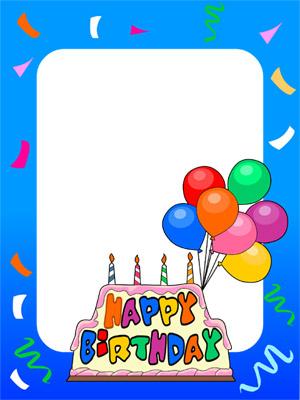 Birthday Cake Photo Frame Editor : Birthday Photo Frames
