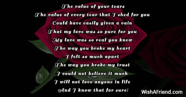 Poems when your heart is broken