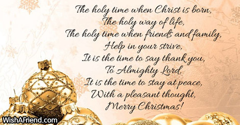 the holy time of christmas