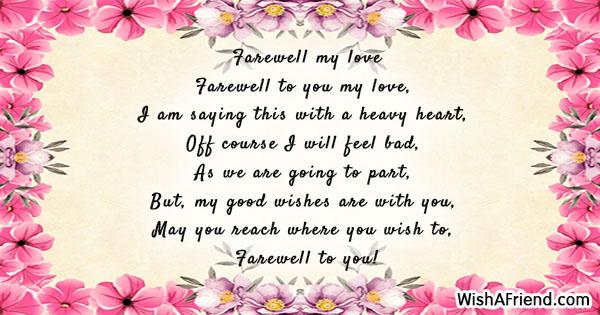 farewell my love