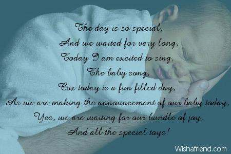 Pregnancy Announcement Poems