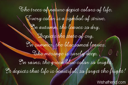 short poems on colours of life