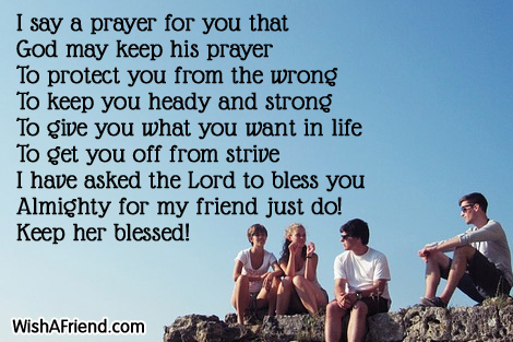 When i say a prayer prayers for friends when i say a prayer altavistaventures Image collections