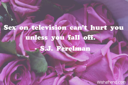 anniversary-Sex on television can't hurt
