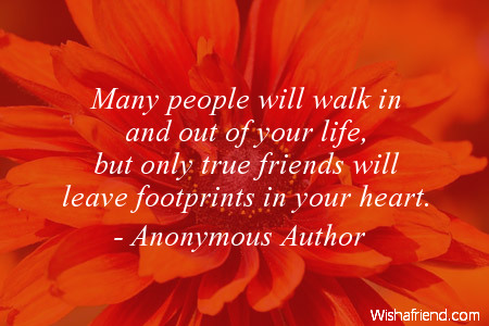 anonymous author quote many people will walk in and out of your