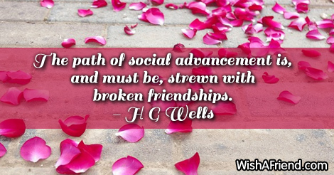 brokenfriendship-The path of social advancement