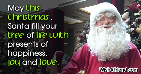 Unknown Quote: May this Christmas, Santa fill your tree of life with ...
