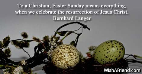 easter-To a Christian, Easter Sunday