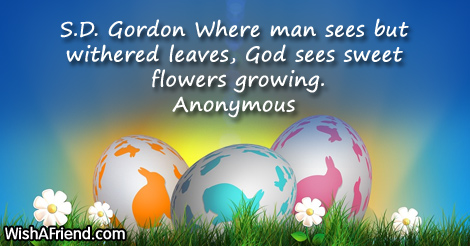 easter-S.D. Gordon Where man sees