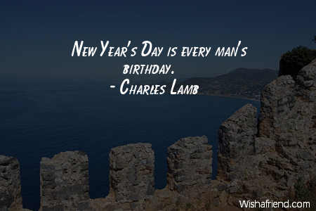new years day is every mans birthday charles lamb