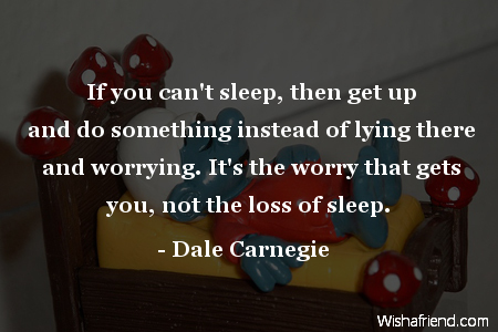 dale carnegie quote if you can t sleep then get up and do