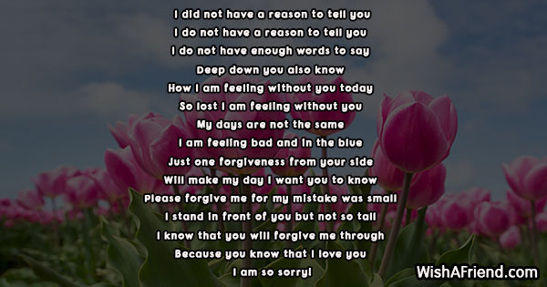 You poems me will forgive I Am