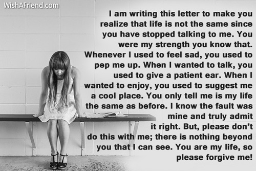 I am sorry letter for hurting you