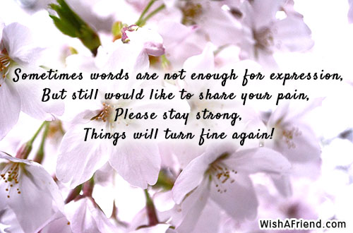 Sometimes words are not enough for sympathy card message sympathy card messages altavistaventures Images