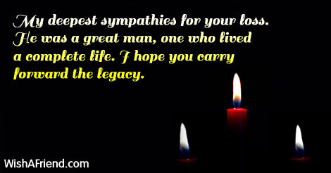 my deepest sympathies for your loss sympathy message for loss of father
