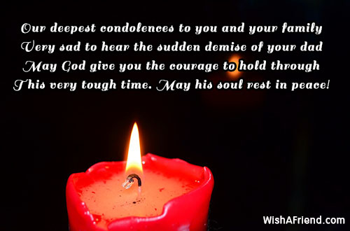 Our deepest condolences to you and, Sympathy Message For ...