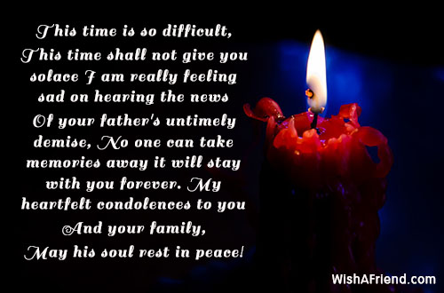 This Time Is So Difficult This Sympathy Message For Loss Of Father
