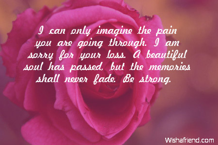 Sorry For Your Loss Quotes I Can Only Imagine The Pain Sympathy Card Message
