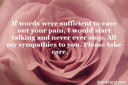 sympathy messages