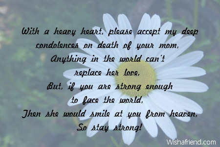 With a heavy heart please accept Condolence Message – Sympathy Message