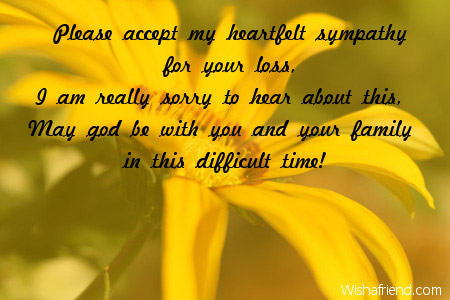 5754 sympathy card messages