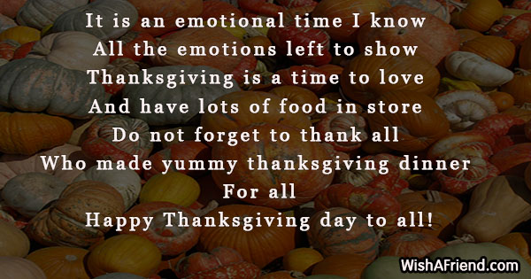 It Is An Emotional Time I Funny Thanksgiving Quote