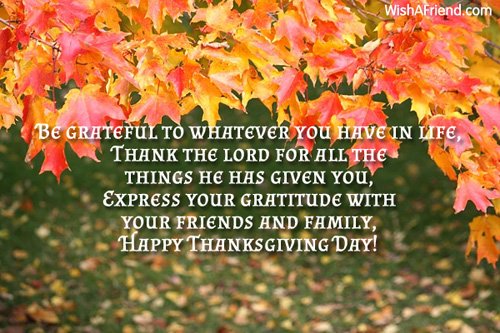 Be grateful to whatever you have thanksgiving message thanksgiving messages m4hsunfo