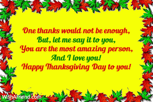 One thanks would not be enough thanksgiving card message 9743 thanksgiving card messages m4hsunfo
