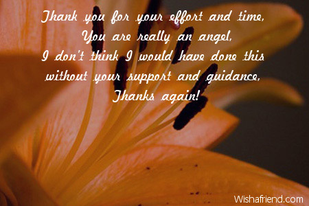 Thank You For Your Effort And Thank You Card Message