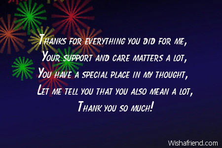 Thanks For Everything You Did For Thank You Message