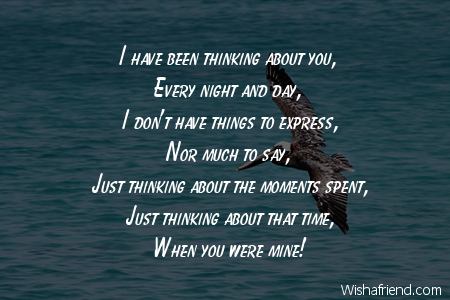 i have been thinking about you thinking of you message for him