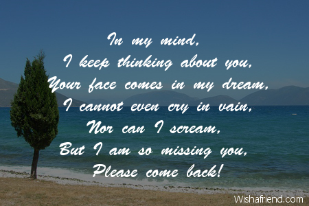 in my mind i keep thinking thinking of you message for him