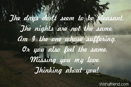 the days don t seem to be thinking of you message for her