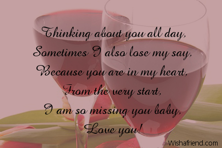 thinking about you all day sometimes i thinking of you message for her