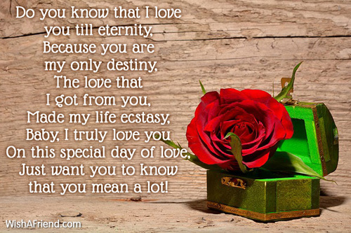 I love you so much , Short Valentine Poem