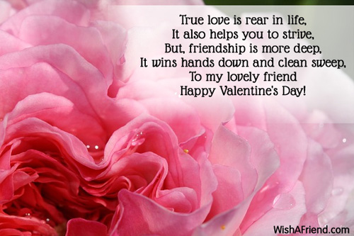 True Love Is Rear In Life It Valentines Day Message For Friends