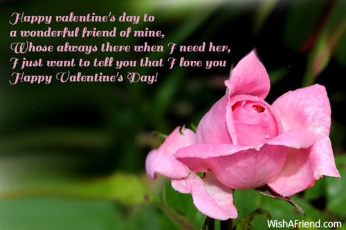 Happy Valentine S Day To A Wonderful Valentines Day Message For Friends