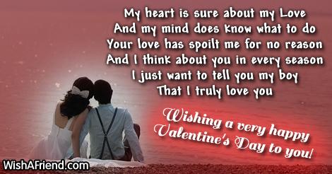 Valentines day messages for boyfriend