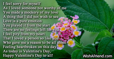 Broken heart valentine poems - Page 1