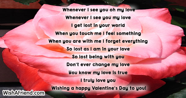 Whenever I See You Oh My Love Short Valentine Poem